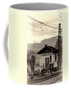 Karlstejn Railroad Shack Coffee Mug by Joan Carroll