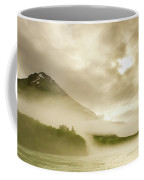 Kayaker And Marine Fog On The Alsek Coffee Mug