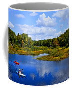 Kayaking The Moose River - Old Forge New York Coffee Mug by David Patterson