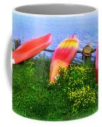 Kayaks At Lake Galena Coffee Mug