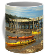 Kayaks By The Pier Coffee Mug