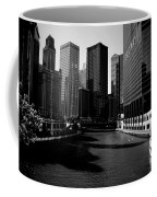 Kayaks On The Chicago River - Black Coffee Mug