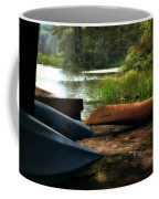 Kayaks On The Shore Coffee Mug