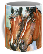 Horse Painting Keeping Watch Coffee Mug