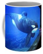 Keiko The Killer Whale Oregon Coast Aquarium Pat Hathaway Photo  1996 Coffee Mug