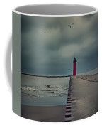 Kenosha North Pier Lighthouse - Dark And Stormy Coffee Mug