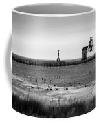 Kewaunee Lighthouse In Bandw Coffee Mug
