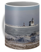 Kewaunee Lighthouse In Winter Coffee Mug