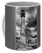 Key Biscayne Fl Lighthouse Black And White Img 7167 Coffee Mug