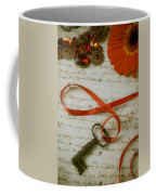 Key On Red Ribbon Coffee Mug