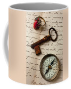 Key Ring And Compass Coffee Mug
