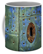 Keyhole On A Blue And Green Door Coffee Mug