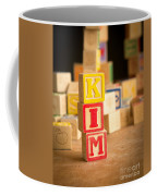 Kim - Alphabet Blocks Coffee Mug