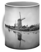 Kinderdijk In Black And White Coffee Mug