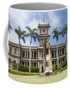 King Kamehameha In Leis Coffee Mug