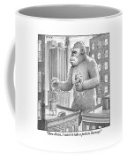 King Kong Stands In A Large City Coffee Mug