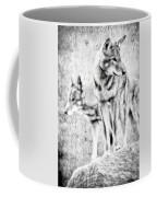 Alpha Male Black And White Coffee Mug