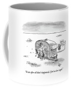 King Speaks To Woman As They Sit Outside Trailer Coffee Mug by Frank Cotham