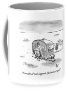 King Speaks To Woman As They Sit Outside Trailer Coffee Mug