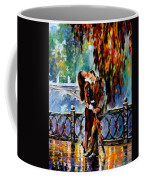 Kiss After The Rain - Palette Knife Oil Painting On Canvas By Leonid Afremov Coffee Mug