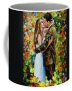 Kiss In The Woods Coffee Mug