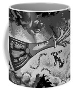 Kiss Me Hot Stuf In Black And White Coffee Mug