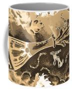 Kiss Me Hot Stuf In Sepia Coffee Mug