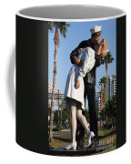 Kissing Sailor - The Kiss - Sarasota Coffee Mug