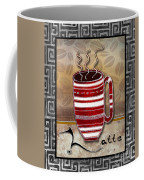 Kitchen Cuisine Hot Cuppa Coffee Cup Mug Latte Drink By Romi And Megan Coffee Mug by Megan Duncanson