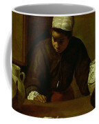 Kitchen Maid With The Supper At Emmaus, C.1618 Oil On Canvas Coffee Mug