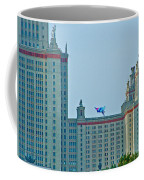 Kite Over Moscow University In Moscow-russia Coffee Mug