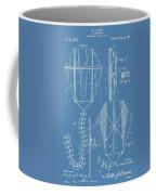 Kite Patent On Blue Coffee Mug