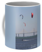 Kite Surfer And Skyway Bridge Coffee Mug