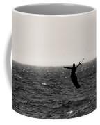 Kite Surfing Pose Coffee Mug