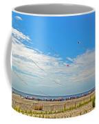 Kites Flying Over The Sand Coffee Mug