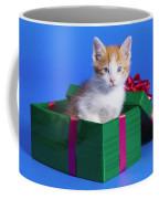 Kitten In Gift Box Coffee Mug