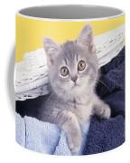 Kitten In Laundry Coffee Mug