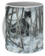 Kitty In The Cold Coffee Mug