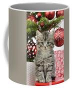 Kitty Xmas Present Coffee Mug