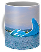 Kneeling Before The Queen Iceberg In Saint Anthony-newfoundland  Coffee Mug