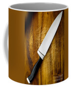 Knife On Chopping Board Coffee Mug