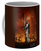 Knight In Shining Armour On A Medieval Battlefield Coffee Mug