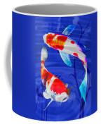 Kohaku Koi In Deep Blue Pool Coffee Mug