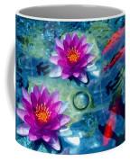 Koi And The Water Lilies Coffee Mug