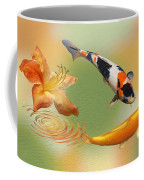 Koi With Azalea Ripples Dreamscape Coffee Mug
