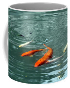 Koi With Sky Reflection Coffee Mug