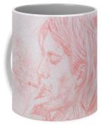 Kurt Cobain Smoking-pencil Portrait Coffee Mug