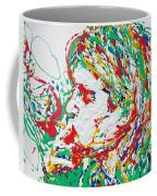 Kurt Cobain Smoking -portrait-enamels On Canvas Coffee Mug