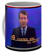 Kvoa Tv Anchorman Interviewer Writer Photographer Dick Mayers Screen Capture Collage Circa 1965-2011 Coffee Mug