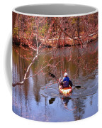 Kyaking On A Lake In Spring Coffee Mug